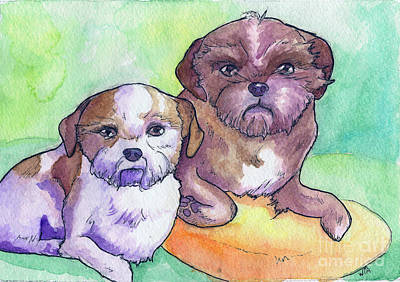 Painting - Oscar And Max by Whitney Morton