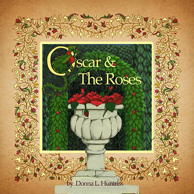Digital Art - Oscar And The Roses Book Cover by Donna Huntriss