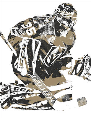 Knight Mixed Media - Oscar Dansk Vegas Golden Knights Pixel Art 2 by Joe Hamilton