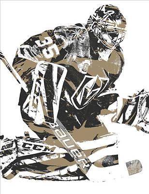 Knight Mixed Media - Oscar Dansk Vegas Golden Knights Pixel Art 2 by Joe Hamilton