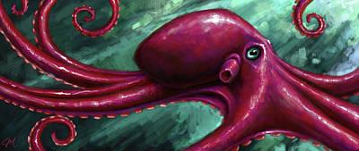 Monster Digital Art - Oscar by Mark Zelmer