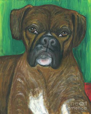 Oscar The Boxer Art Print