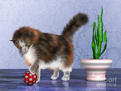 House Pet Painting - Oscar The House Cat by Corey Ford