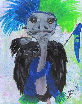 Oscar The Ostrich Art Print by Susan Snow Voidets