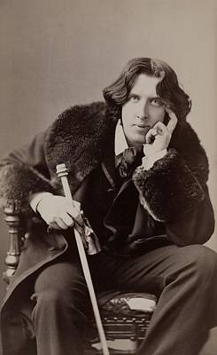 Oscar Wilde, 1854-1900 Irish Writer Art Print by Everett
