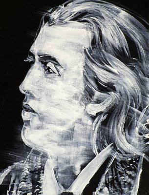 Painting - Oscar Wilde - Acrylic Portrait.2 by Fabrizio Cassetta