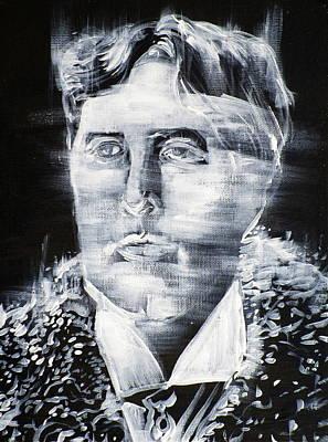 Painting - Oscar Wilde - Acrylic Portrait.3 by Fabrizio Cassetta