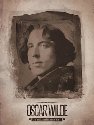 Author Digital Art - Oscar Wilde 02 by Afterdarkness