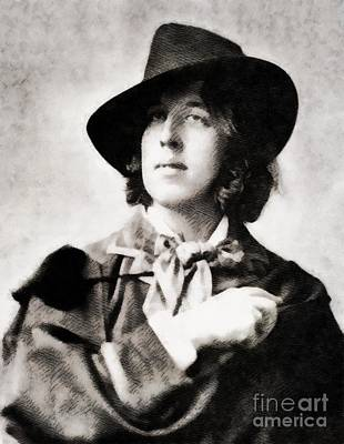 Famous Literature Painting - Oscar Wilde, Literary Legend by John Springfield