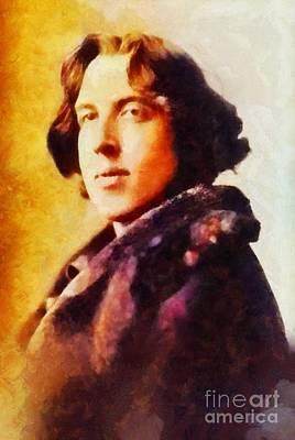 Literature Painting - Oscar Wilde, Literary Legend by Sarah Kirk