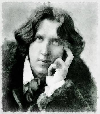 Oscar Wilde, Playwright And Author Art Print by John Springfield