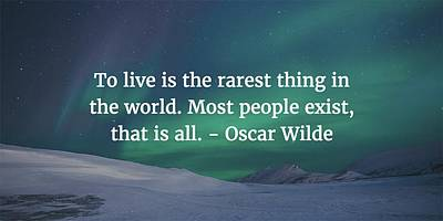 Photograph - Oscar Wilde Quote by Matt Create