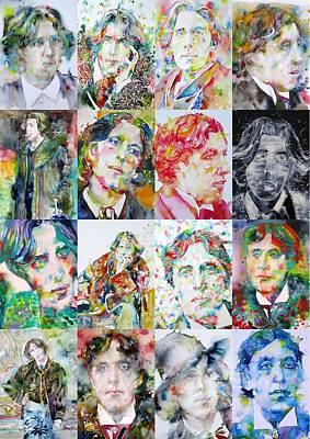 Painting - Oscar Wilde Sixteen by Fabrizio Cassetta