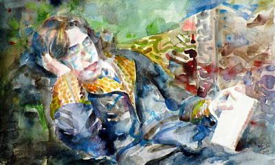 Oscar Wilde - Watercolor Portrait.12 Original by Fabrizio Cassetta