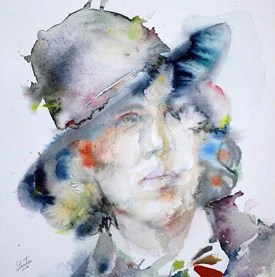 Oscar Wilde - Watercolor Portrait.14 Original by Fabrizio Cassetta