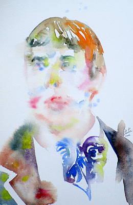 Oscar Wilde - Watercolor Portrait.16 Original by Fabrizio Cassetta
