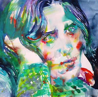 Oscar Wilde - Watercolor Portrait.20 Original by Fabrizio Cassetta
