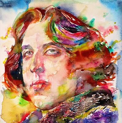 Painting - Oscar Wilde - Watercolor Portrait.26 by Fabrizio Cassetta