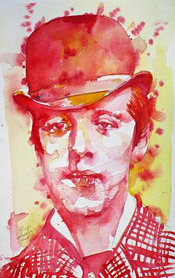 Painting - Oscar Wilde - Watercolor Portrait.30 by Fabrizio Cassetta