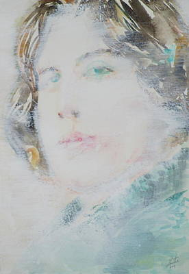 Oscar Wilde - Watercolor Portrait.7 Original by Fabrizio Cassetta
