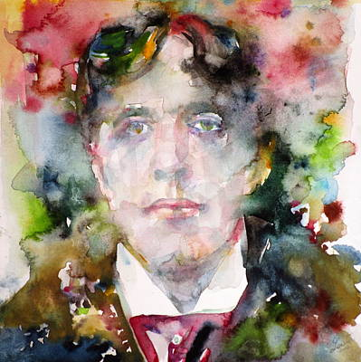 Oscar Wilde - Watercolor Portrait.9 Original by Fabrizio Cassetta