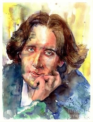 Dublin Wall Art - Painting - Oscar Wilde Watercolor by Suzann's Art