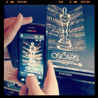 Oscars Photograph - Oscar's Night!! #oscars #theoscars by Claudia Garig