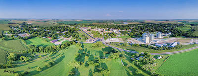 Photograph - Panorama Of Osceola, Nebraska by Mark Dahmke