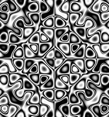 Fluttering Digital Art - Oscillating Chaos by Michal Boubin