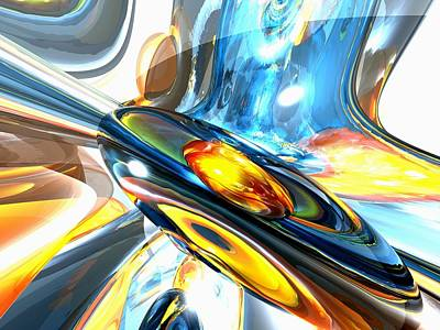 Oscillating Color Abstract Art Print by Alexander Butler