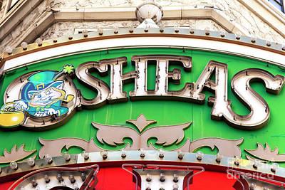 O'sheas Las Vegas Art Print by John Rizzuto