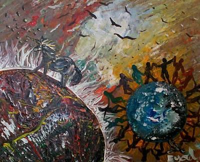 Osho's Vision Art Print by Eyal Malek
