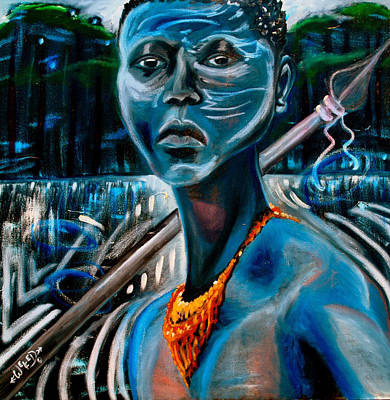 Orisha Painting - Oshosi by Anthony Welfed Austin