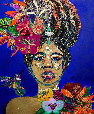 Tapestry - Textile - Oshun Blooming by Apanaki Temitayo M