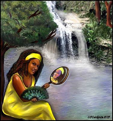 Oshun -orisha Of Love Art Print by Carmen Cordova