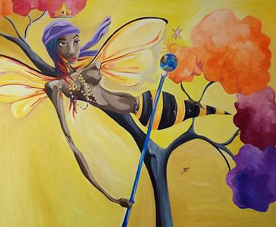 Orisha Painting - Oshun Orisha Of Love by JaFleu