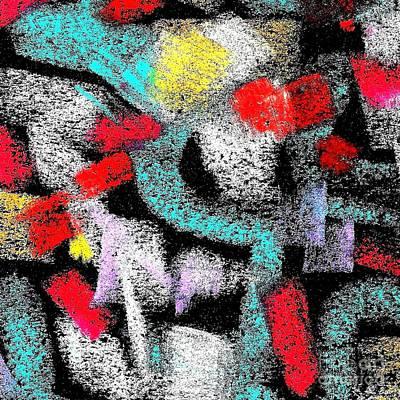 Eliso Digital Art - Osile Multicolor by Eliso Ignacio Silva Simancas