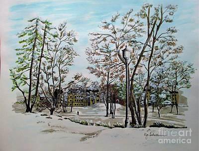 Oslo In Winter Original by Olga Silverman