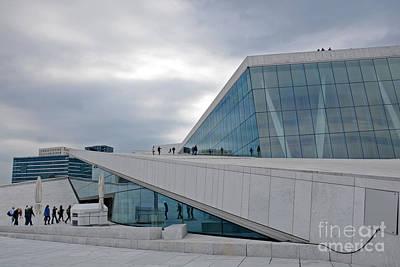 Oslo Opera House Photograph - Oslo Opera House by Andrea Simon