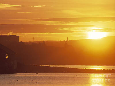 Oslo Sunrise Art Print by Kim Lessel