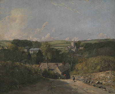 Cloud Wall Painting - Osmington Village by John Constable