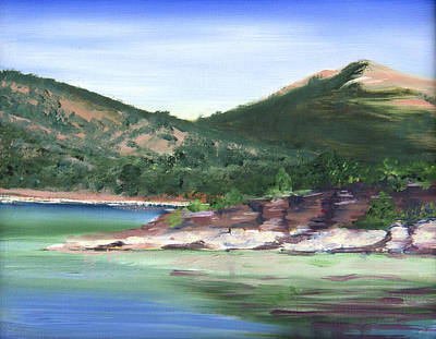 Painting - Osprey Island Flaming Gorge by Nila Jane Autry