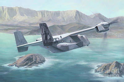 Painting - Osprey Over The Mokes by Stephen Roberson