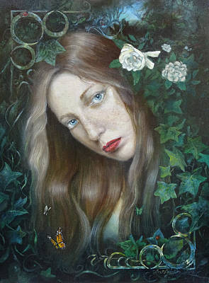 English Ivy Painting - Ostara by Lee Lynch