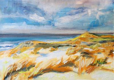 Painting - Ostend Dunes by Christel Roelandt