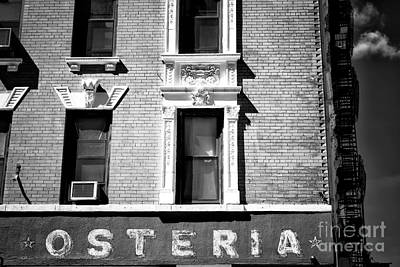 Photograph - Osteria by John Rizzuto