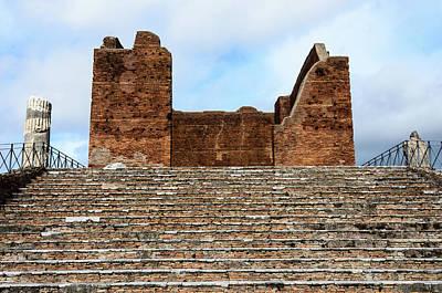 Photograph - Ostia Antica - Capitolium by Debra Martz