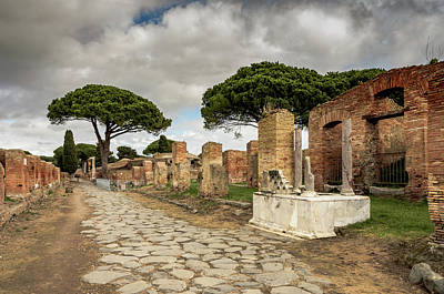 Photograph - Ostia Antica - Oil Lamp Fountain by Debra Martz