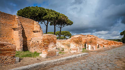 Photograph - Ostia Antica - Strolling The Decuman by Debra Martz