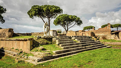 Photograph - Ostia Antica - Temple Of Hercules by Debra Martz